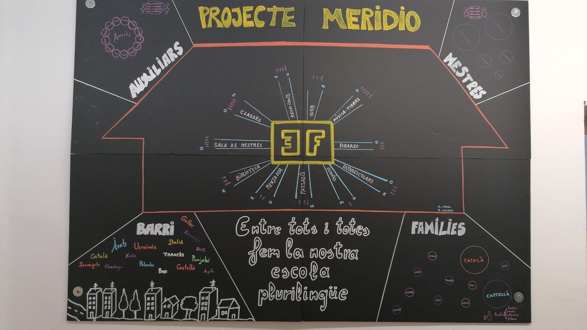 Paisatge lingüístic escola Enric Farreny (Lleida, Catalunya, Espanya) 5/21